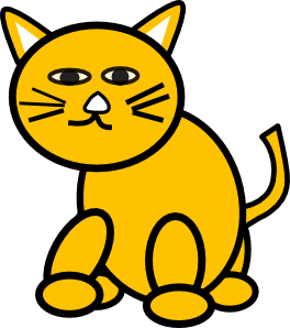 free vector Cat Round clip art