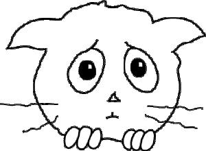 free vector Cat Sad clip art