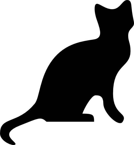 Cat Silhouette clip art Free Vector / 4Vector