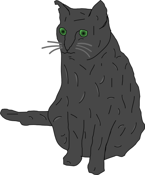 free vector Cat, Smokey clip art