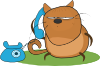 free vector Cat Talking In Phone clip art