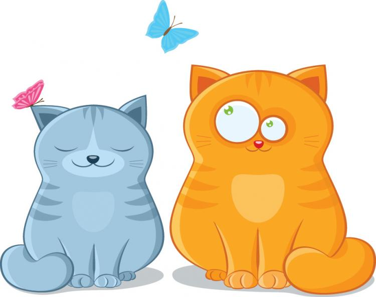 free vector Cat theme vector