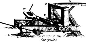 free vector Catapult clip art 118172