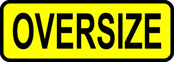 free vector Caution Oversize Sign Symbol Label clip art