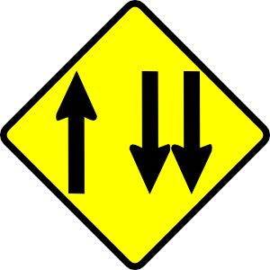 free vector Caution Overtaking Lane clip art