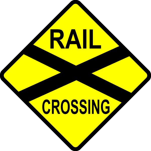 caution railroad crossing clip art free vector 4vector rh 4vector com clipart railroad crossing sign railroad clip art pictures
