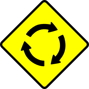 free vector Caution Roundabout clip art
