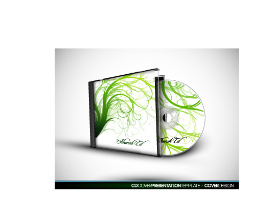 free vector Cd box and cd vector