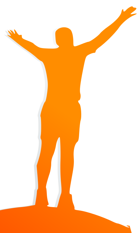 free vector Celebrating Orange Man