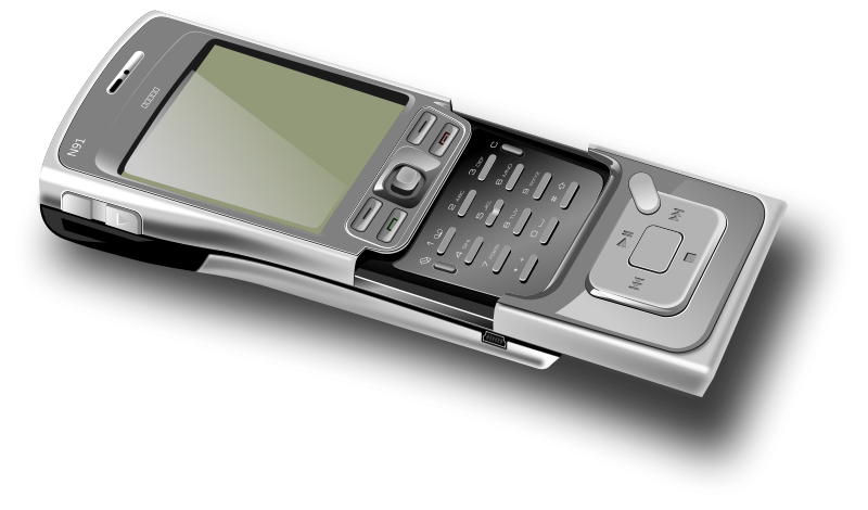 free vector Cell phone - open