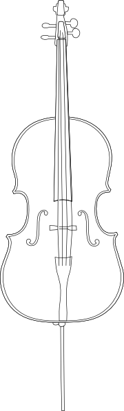 free vector Cello clip art 114220