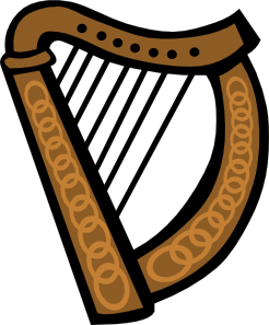 free vector Celtic Harp clip art