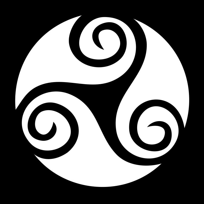 free vector Celtic triskell 01