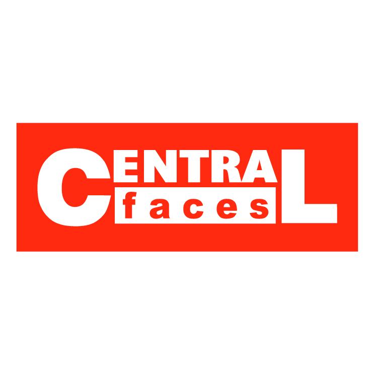 free vector Central faces