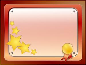 free vector Certificate clip art