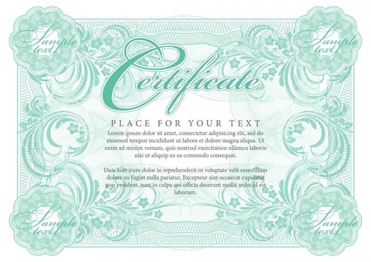 free vector Certificate of commendation 01 vector