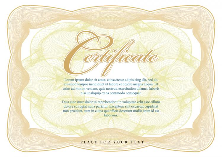 free vector Certificate of commendation 05 vector