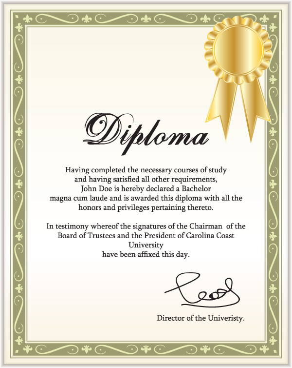 free vector Certificate of commendation vector
