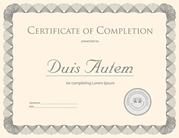 free vector Certificate template vector