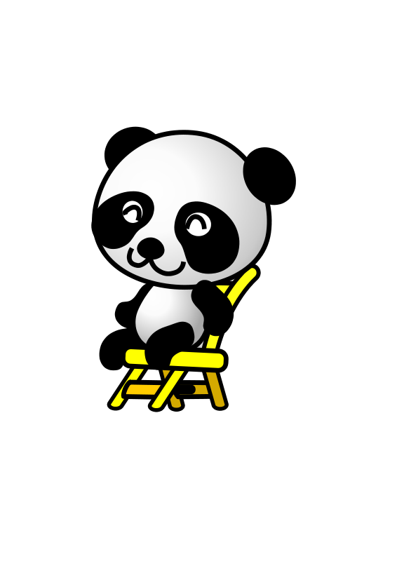 Chair,panda Free Vector