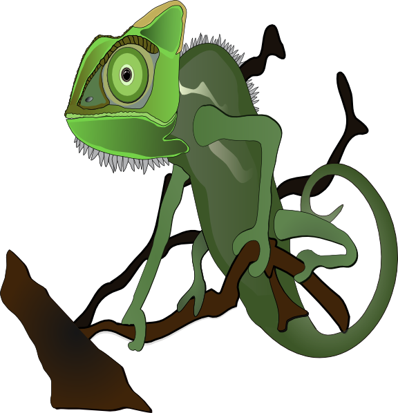 free vector Chameleon clip art