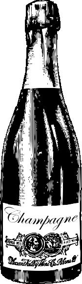 free vector Champagne Bottle clip art