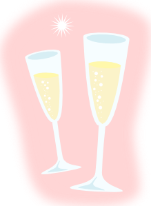free vector Champagne Glasses clip art