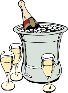free vector Champagne On Ice clip art