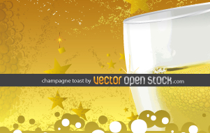 free vector Champagne Toast