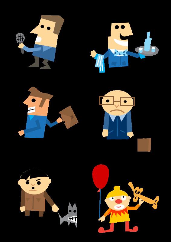 free vector Character set