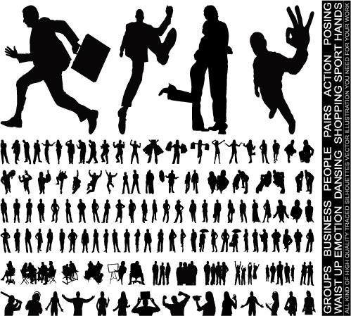 free vector Characters silhouette vector