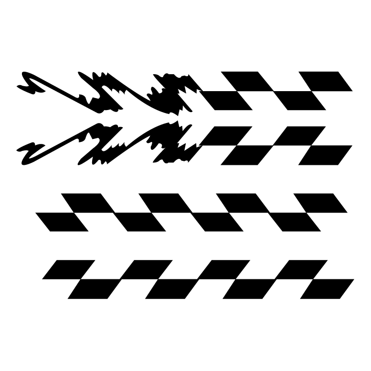 free vector Checred stripe with jagged end