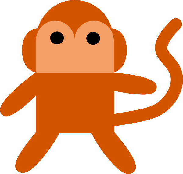 free vector Cheeky Monkey clip art