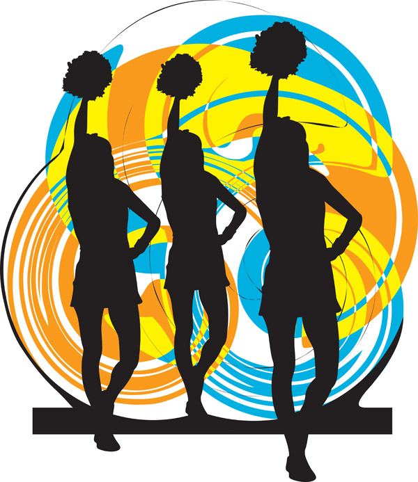 free vector Cheerleaders Vector Cheerleaders Vector