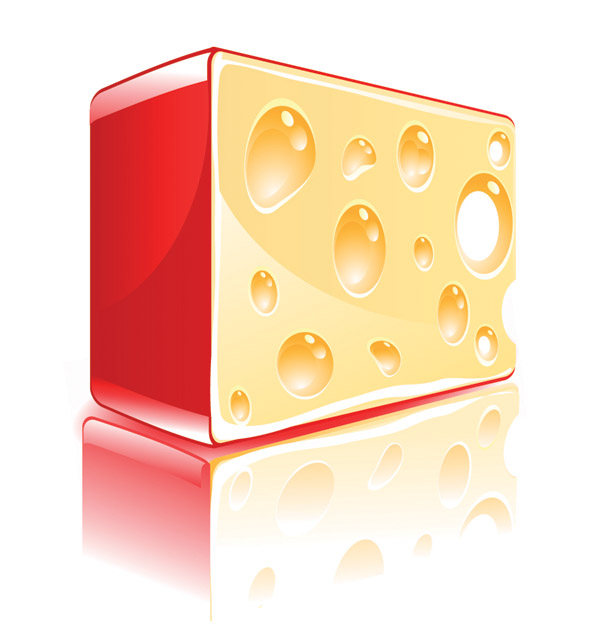 free vector Cheese block vector