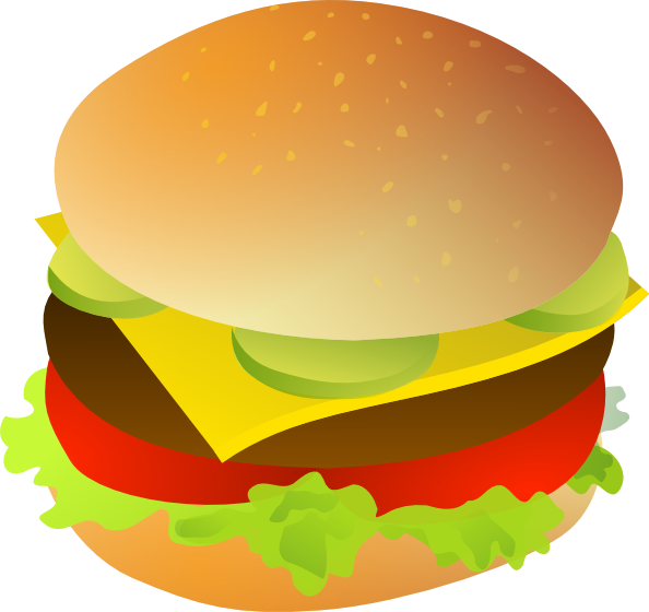 free vector Cheese Burger clip art