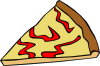 free vector Cheese Pizza Slice clip art