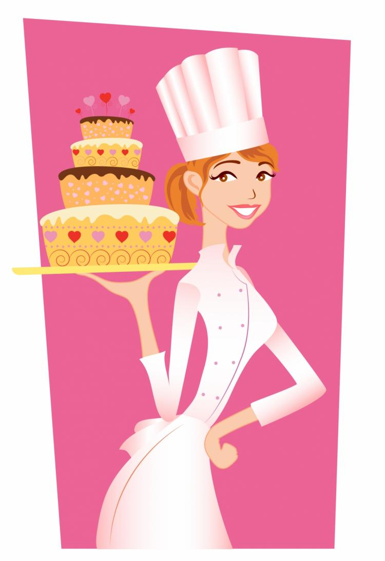 Chef girl Free Vector / 4Vector