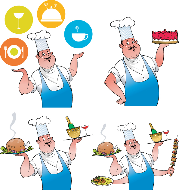 free vector Chef Series Vector material