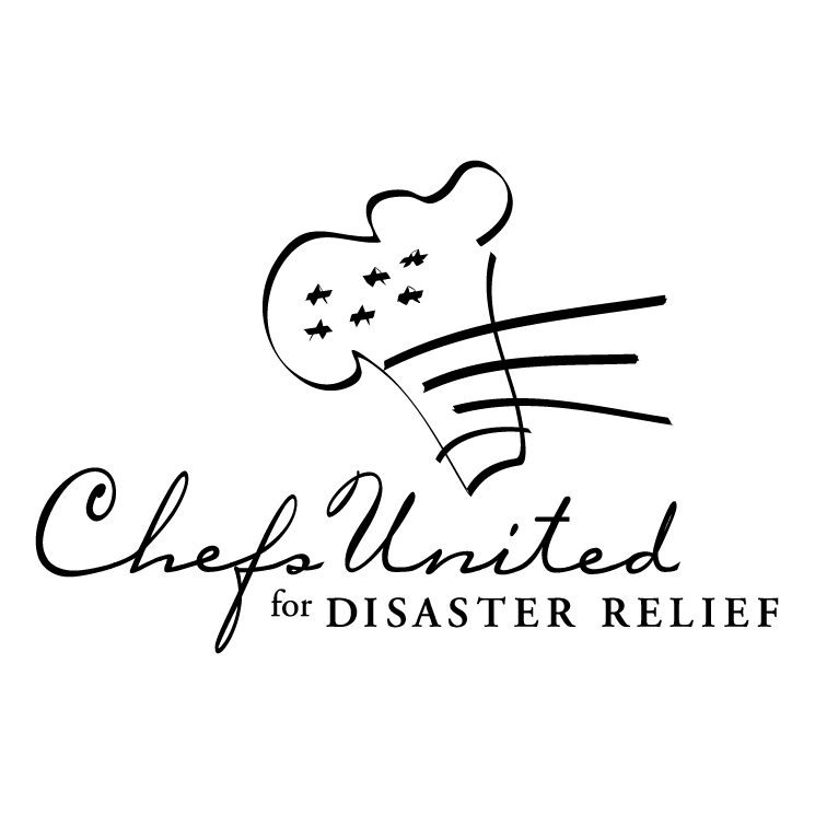 free vector Chefs united for disaster relief
