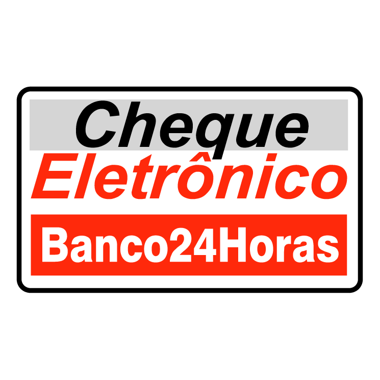 free vector Cheque eletronico banco 24 horas