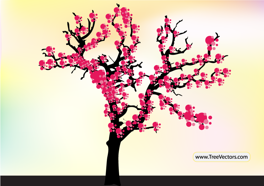 free vector Cherry Blossom Tree Vector