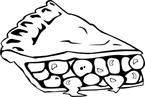 Cherry Pie B And W Clip Art Free Vector 4vector