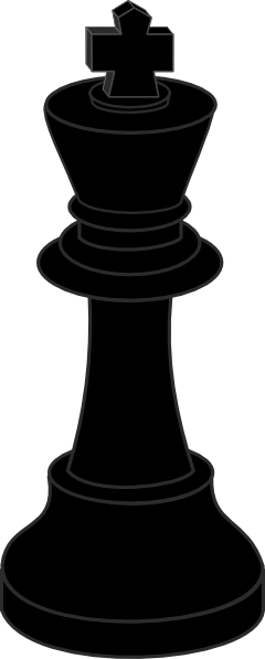 Chess Piece Black King clip art (107174) Free SVG Download ...