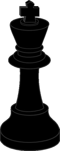 Chess Piece Black King clip art Free Vector / 4Vector