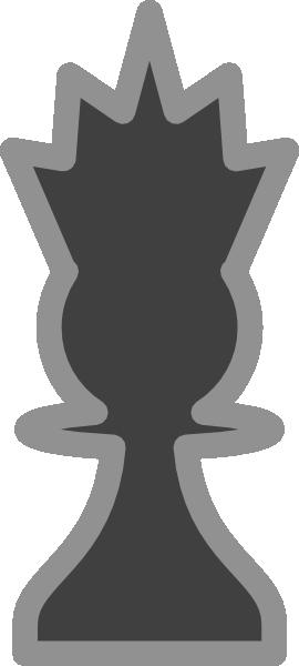 free vector Chess Queen Black clip art