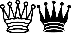 free vector Chess Queen Crown clip art
