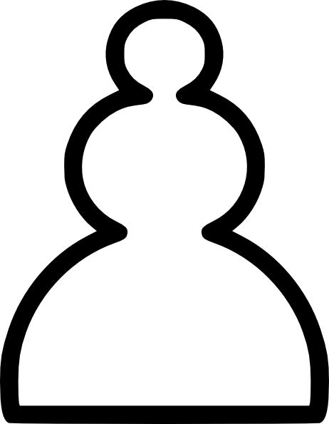 free vector Chess White Pawn Piece clip art
