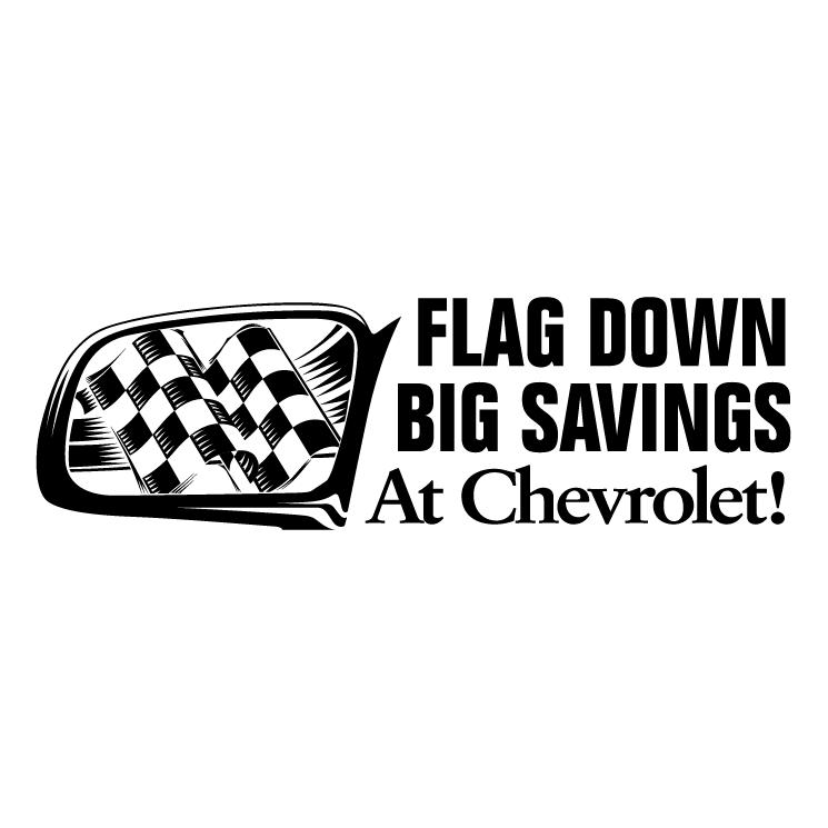 free vector Chevrolet flag down big savings