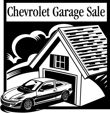 free vector Chevrolet Garage Sale logo